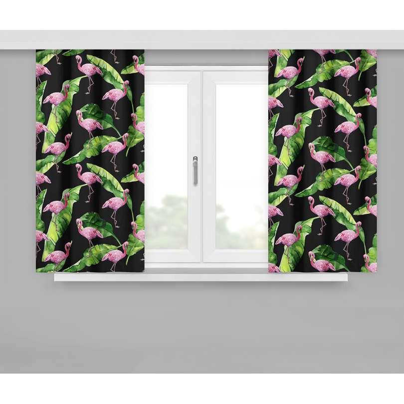gordijn met plooiband flamingo 160x170cm x 2 stuks