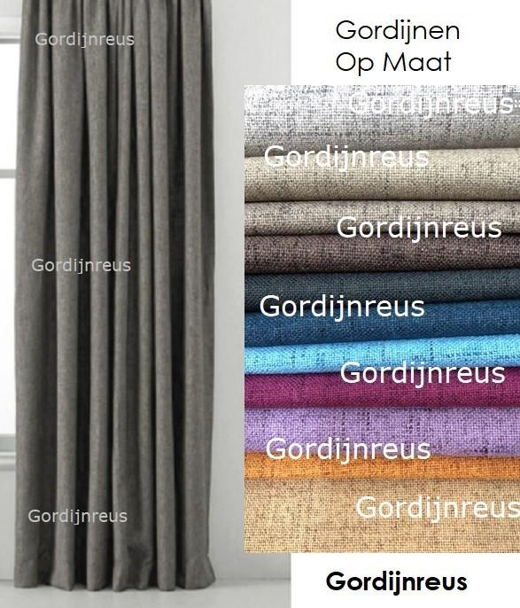 100 verduisterend linnen mengsel gordijn op maat direct bestellen