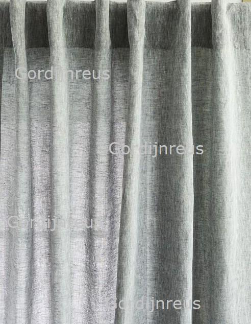 Nieuw! Vitrage Plooigordijn Grijs met Textuur
