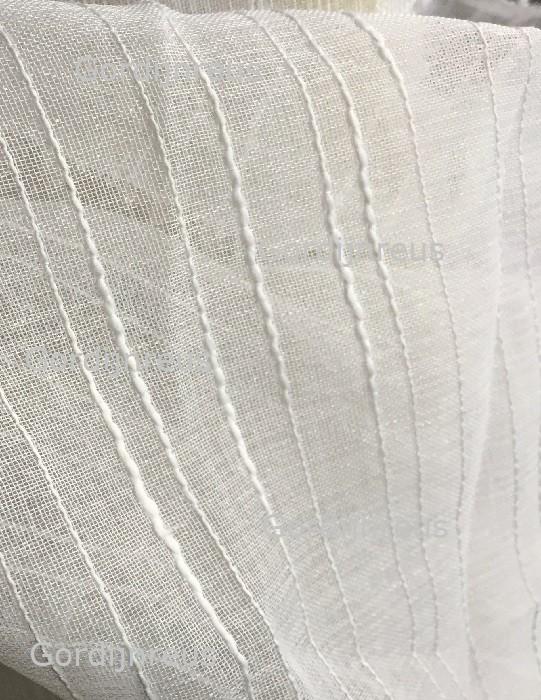Nieuw! Vitrage Plooigordijn Wit met Verticale lijnen 280x230 cm