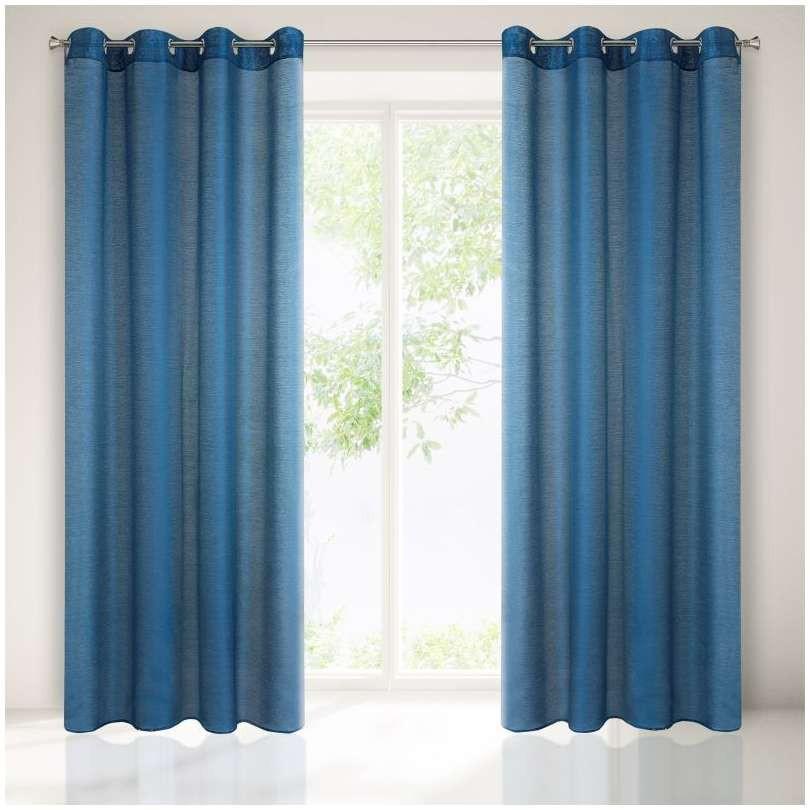 Vitrage blauw 140x250cm x 2 stuks