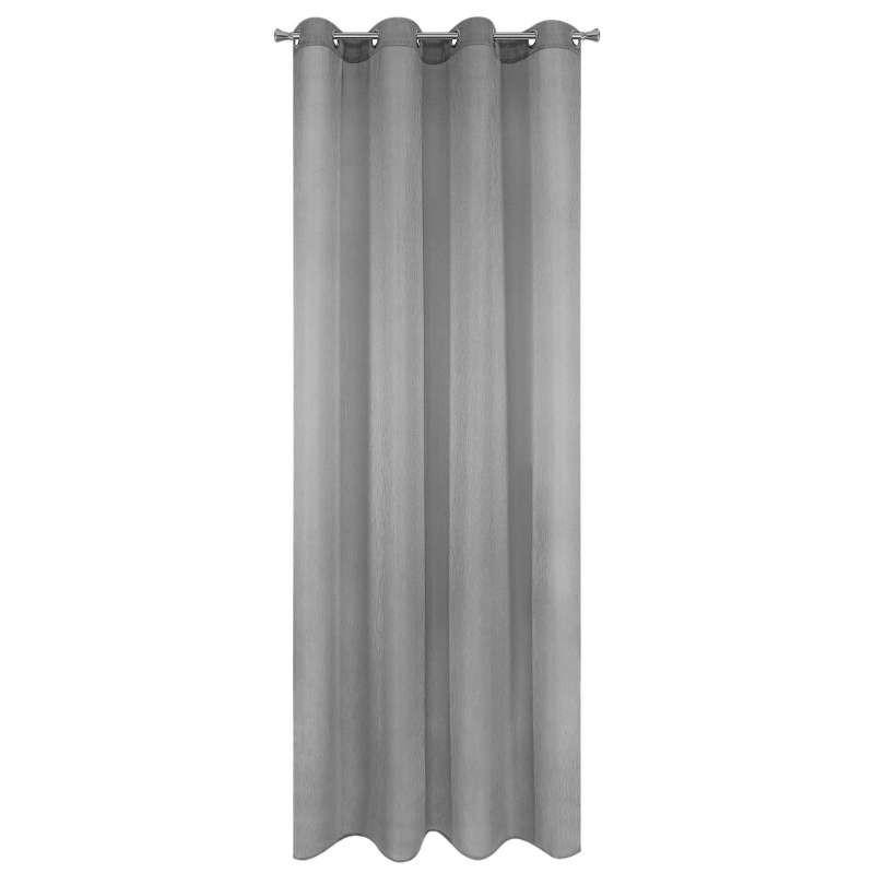 Vitrage gordijn met ringen grijs