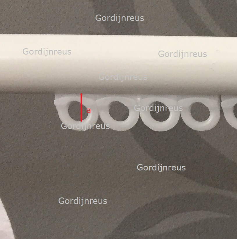 gordijnrail closeup