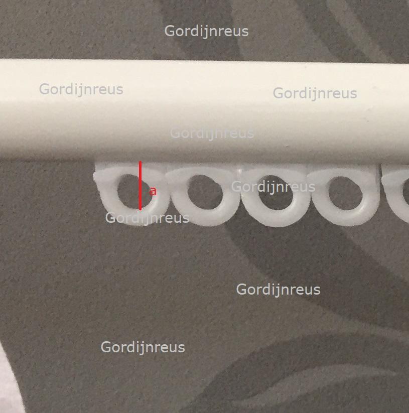 gordijnrail closeup
